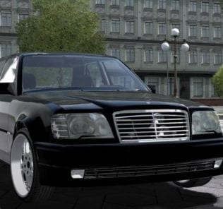 Mercedes-Benz E500 W124 Mod for City Car Driving v.1.5.1 - 1.5.4