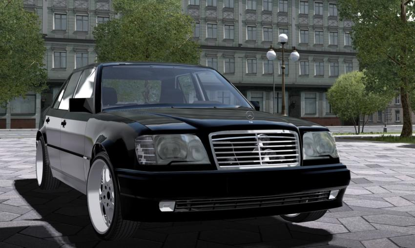 Mercedes benz e500 w124 mod for city car driving v 1 5 1 for Mercedes benz car racing games