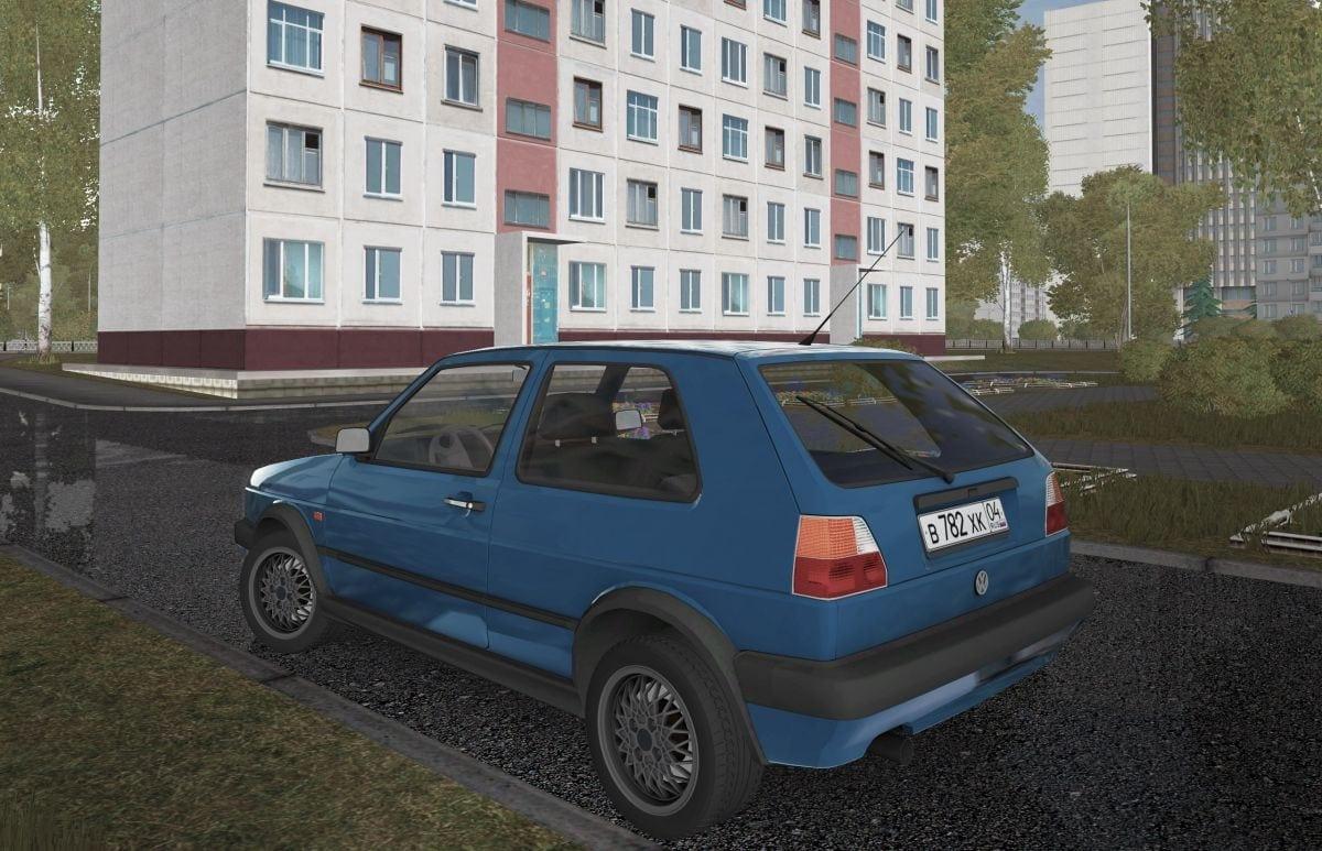 Volkswagen Golf MK2 1 6D Mod for City Car Driving v 1 5 1 - 1 5 5