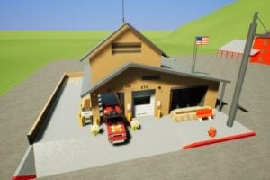 Country Fire Station 107 Mod for Brick Rigs