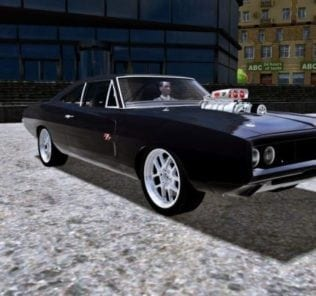 Dodge Charger RT Fast & Furious Edition 1970 Mod for City Car Driving v.1.5.1 - 1.5.5