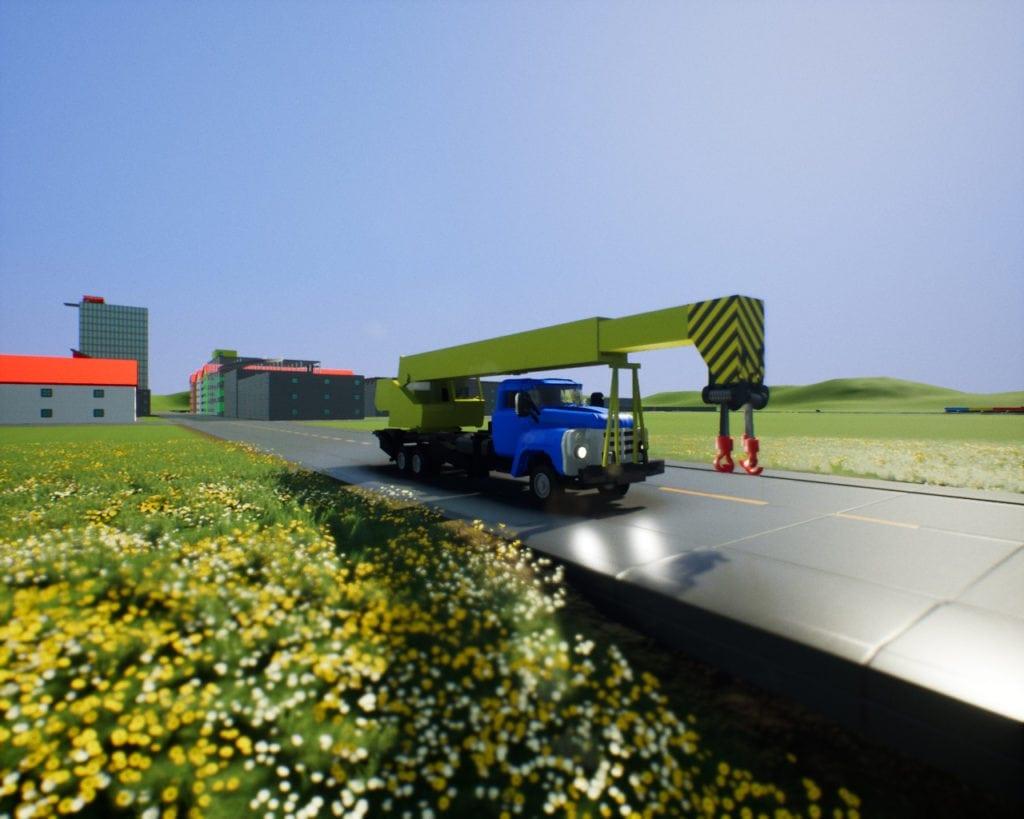 ZIL-133 GYA Crane Mod for Brick Rigs