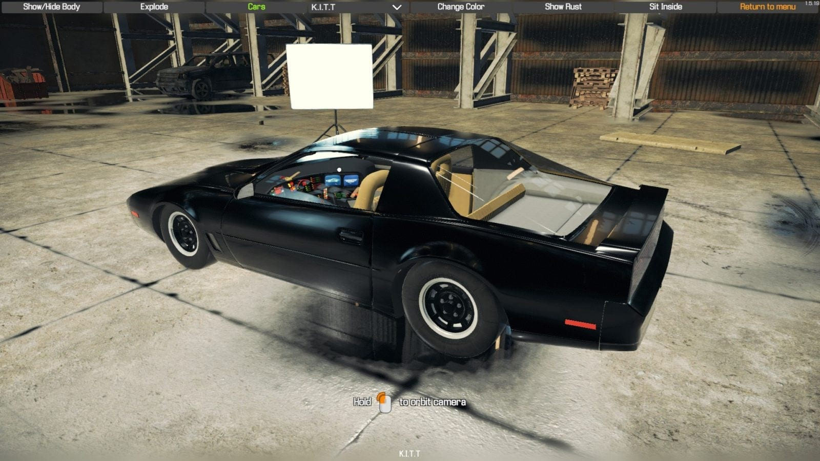 KITT Knight Industries Two Thousand Mod for Car Mechanic Simulator 2018