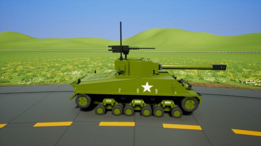 M4A3E8 Mod for Brick Rigs