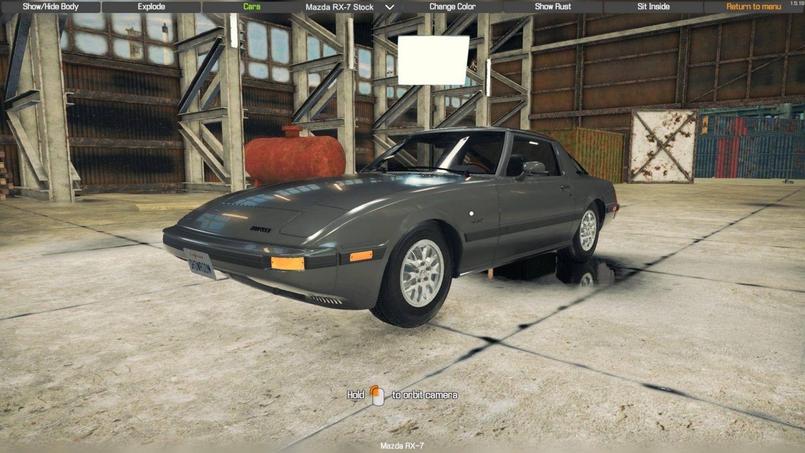 Mazda RX7 series 2 Mod for Car Mechanic Simulator 2018