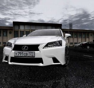 Lexus GS350 IV 2014 Mod for City Car Driving v.1.5.1 - 1.5.6