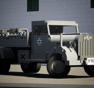 Opel Blitz - No Tarpaulin Mod for Brick Rigs