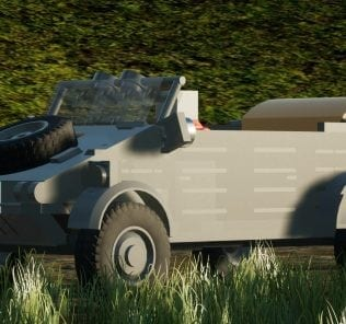 "VW type 82 ""Kübelwagen"" Mod for Brick Rigs"