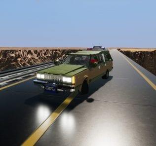 1989 Pontiac Safari Woody Wagon Mod for Brick Rigs