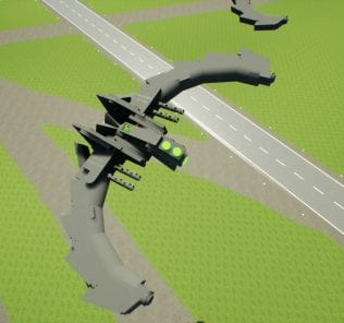 Alien fighters swarm Mod for Brick Rigs