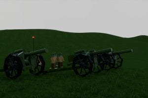 18 Inch Heavy Howitzer Artillery Battery Mod for Brick Rigs