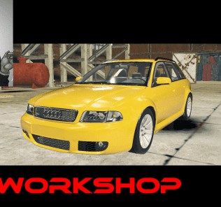 Audi RS4 Avant Mod for Car Mechanic Simulator 2018