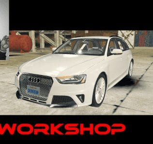 Audi RS4 Avant B8 Mod for Car Mechanic Simulator 2018