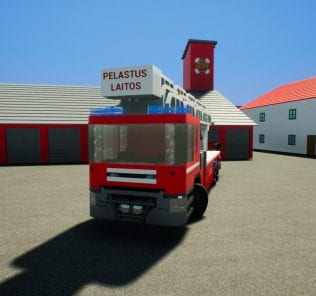 Finnish Fire Engine n.406 Mod for Brick Rigs