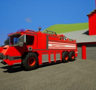 Fire Dept. Airport Crash Tender 02 Mod for Brick Rigs