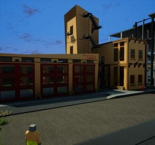Fire Dept. Station 5 Mod for Brick Rigs