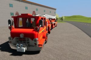 Fire Dept. Tiller Ladder 34 Mod for Brick Rigs