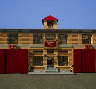 Fire Station 23 | Feuerwache 23 Mod for Brick Rigs
