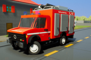 Mercedes Unimog Firetruck Mod for Brick Rigs