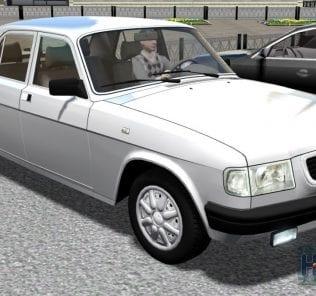 GAZ 3110 «Volga»  Mod for City Car Driving v.1.5.2 - 1.5.6