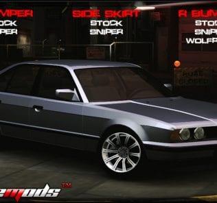 BMW 535 E34 Mod for NFS Underground 2