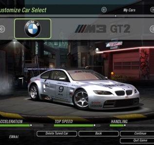 BMW M3 GT2 (2009) Mod for NFS Underground 2