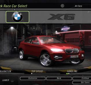 BMW X6 Mod for NFS Underground 2