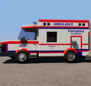 FIRE & EMS Ambulance 603 Mod for Brick Rigs