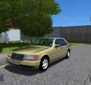 Mercedes-Benz S600 W140 V1.1 Mod for City Car Driving v.1.5.6