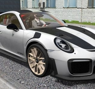 Porsche 911 Gt2 Rs 2018 V1.0 Mod for City Car Driving v.1.5.5