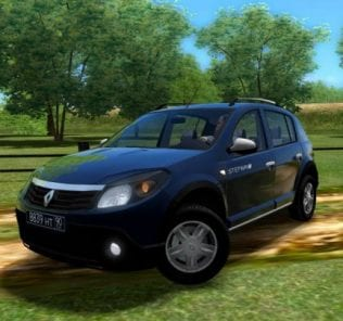 Renault Sandero Mod for City Car Driving v.1.5.1 - 1.5.6