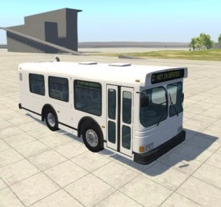 Автобус Stubby Bus 1.0 Mod for BeamNG Drive