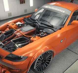 BMW Z4 M Coupe 2008 Mod for Car Mechanic Simulator 2018