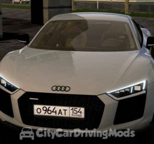 Audi R8 V10 Plus 2017 Mod for City Car Driving v.1.5.8