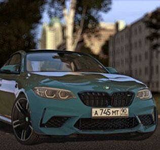 BMW M2 Competition 2018 Mod for City Car Driving v.1.5.9