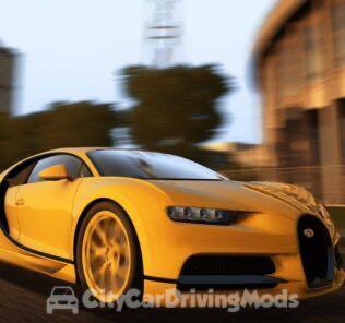 Bugatti Chiron 2016 Mod for City Car Driving v.1.5.5