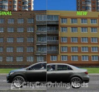 Building Retexture for CCD Mod for City Car Driving v.1.5.6