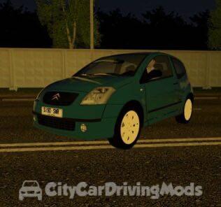 Citroen C2 VTR Mod for City Car Driving v.1.5.5