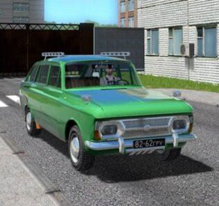 IZH 2125 Combi Remake Mod for City Car Driving v.1.5.9