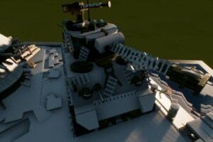 M4A3E8 Sherman tank diorama Mod for Brick Rigs