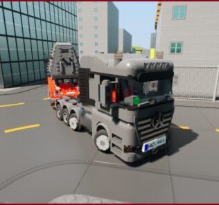 Mercedes-Benz Arocs + Selbsfahrer + Amored Train Mod for Brick Rigs