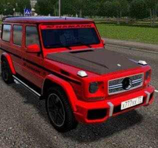 Mercedes-Benz G65 Red Tuning Mod for City Car Driving v.1.5.9