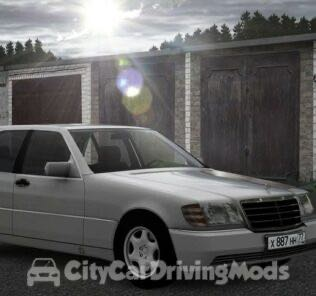 Mercedes-Benz S-Class (W140) Mod for City Car Driving v.1.5.5