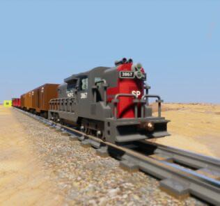 Southern Pacific Train Mod for Brick Rigs