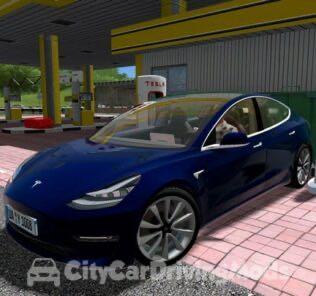 Tesla Superchargers Mod for City Car Driving v.1.5.5