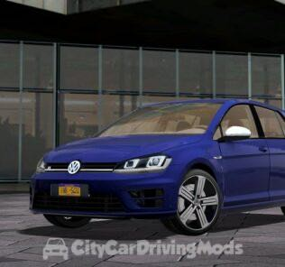 Volkswagen Golf R 2014 Mod for City Car Driving v.1.5.7