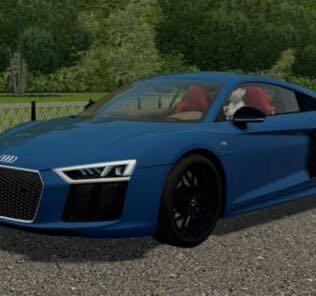 Audi R8 V10 2017 Mod for City Car Driving v.1.5.9