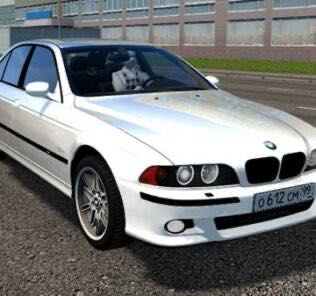 BMW M5 E39 White Mod for City Car Driving v.1.5.9