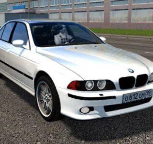 BMW M5 E39 White Mod for City Car Driving v.1.5.9