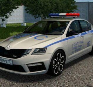 Skoda Octavia RS 2017 Police Mod for City Car Driving v.1.5.9